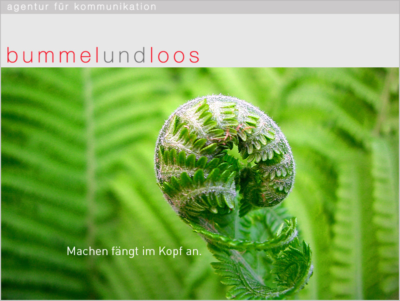 start > bummelundloos Agentur für Kommunikation